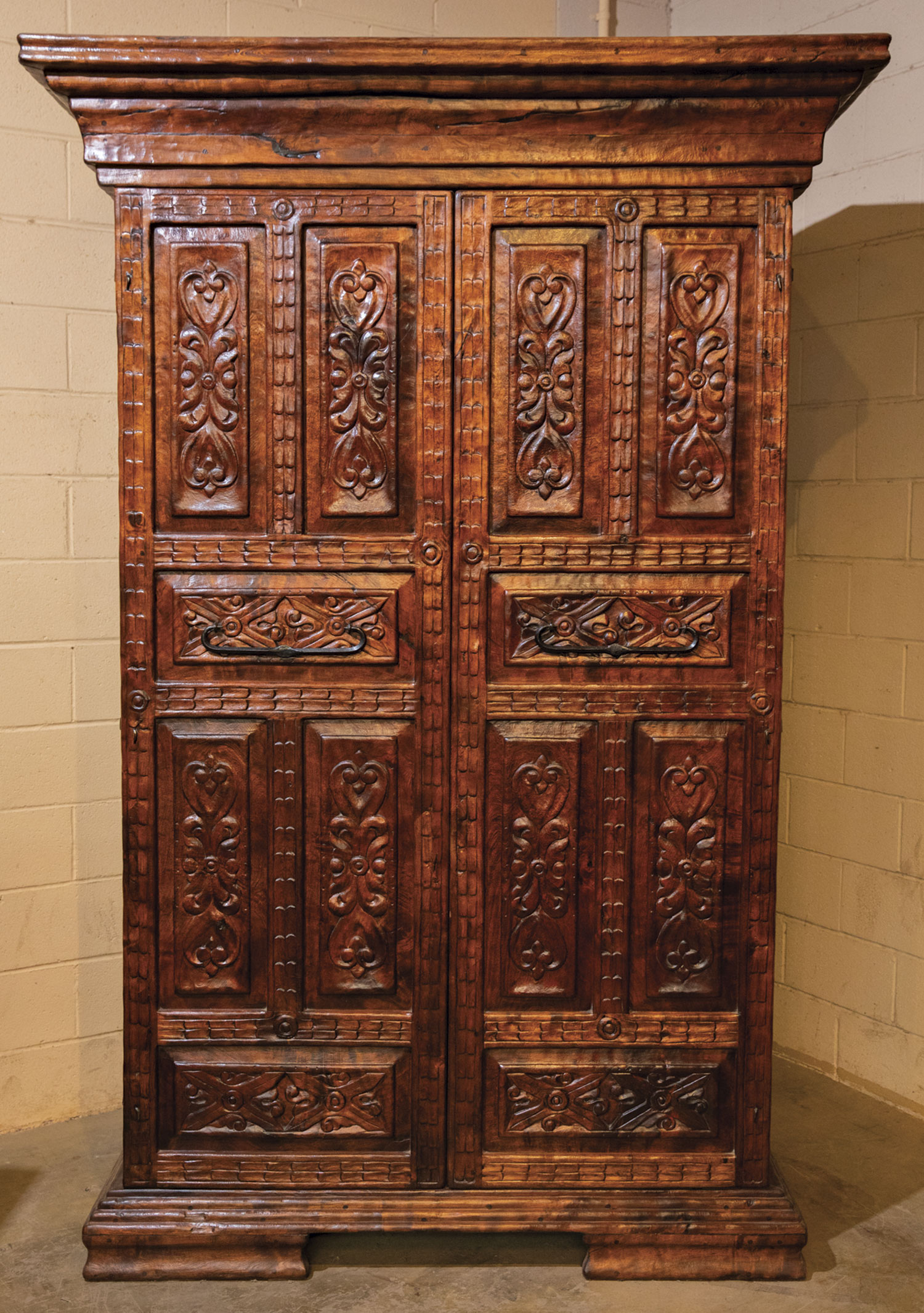 The Tabers Began Their Business By Making Intricately Carved Old World Style Mesquite Furniture Such As This Large Armoire