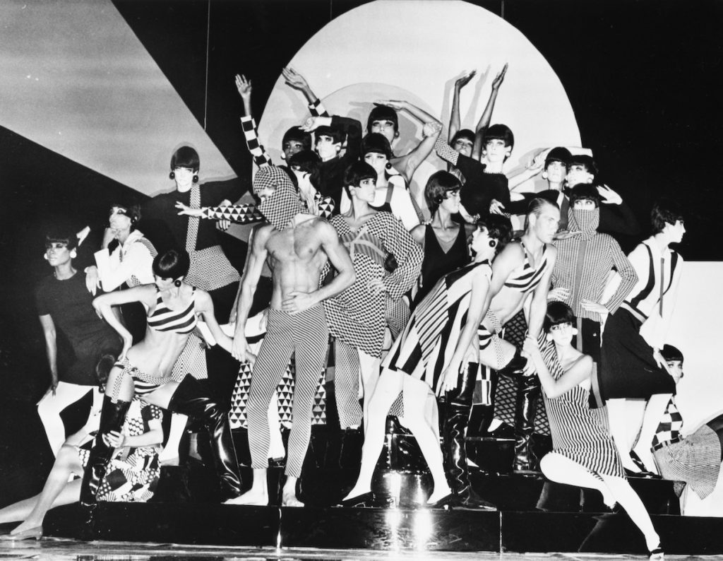 Rudi Gernreich fashions at the Wiltern, 1985. Photo Collection, Los Angeles Public Library