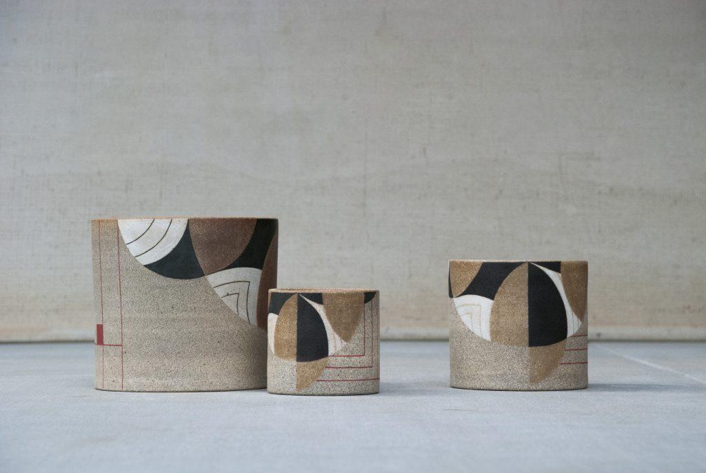 Frank Lloyd Wright-inspired planters by Pawena Studios