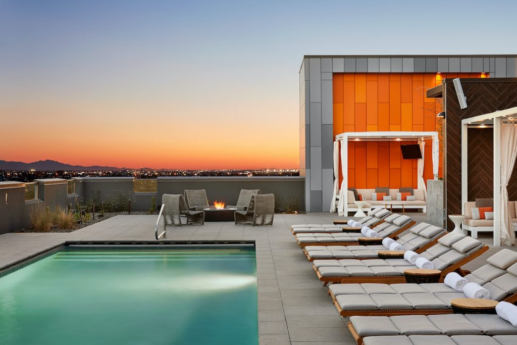 Photo of Canopy Alibi in Tempe — a rooftop pool and chairs