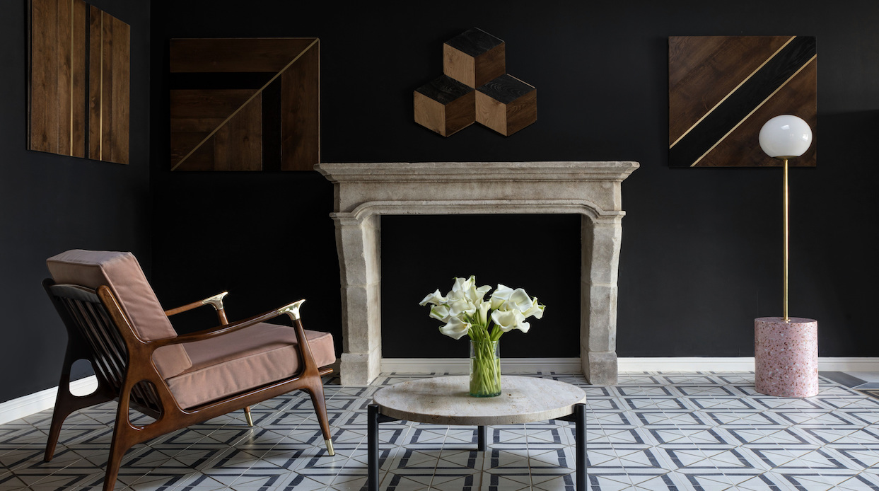 A living room featuring Tabarka Studio tiles