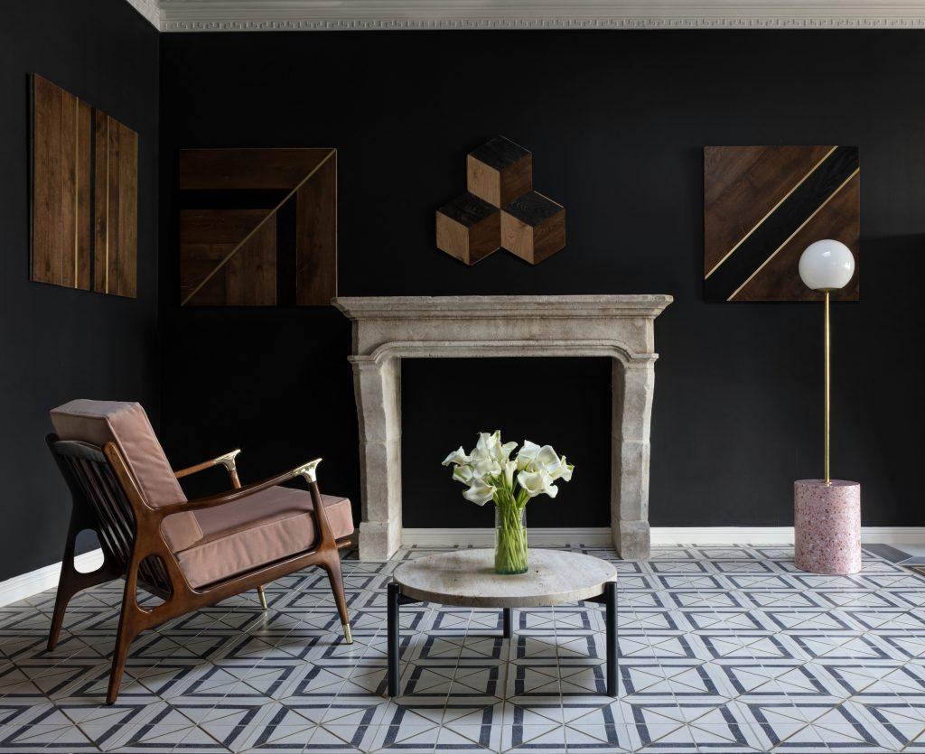 Living room design featuring Tabarka Studio tile
