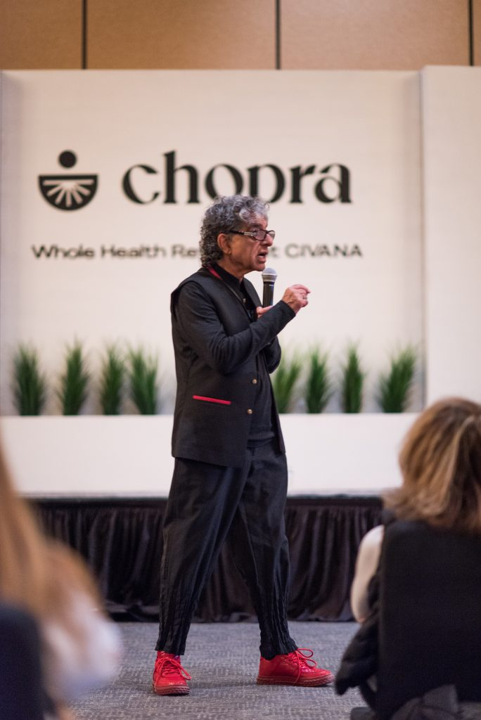 Dr. Deepak Chopra speaking at an event