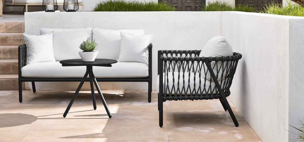 Modern patio furniture set