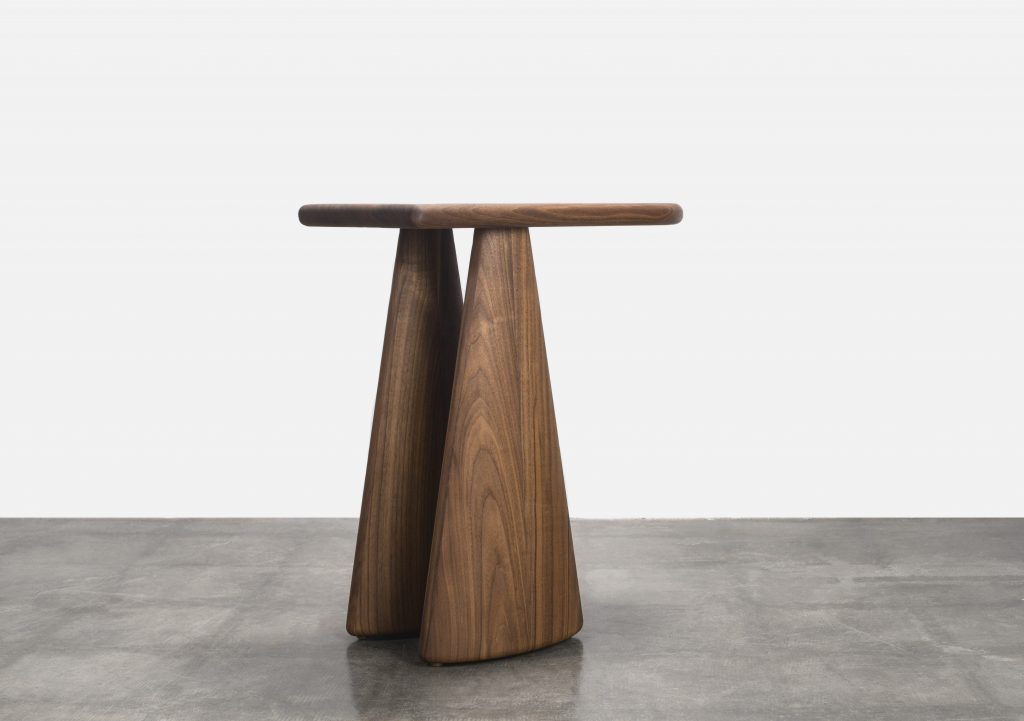 Straddle side table by Levi Christiansen
