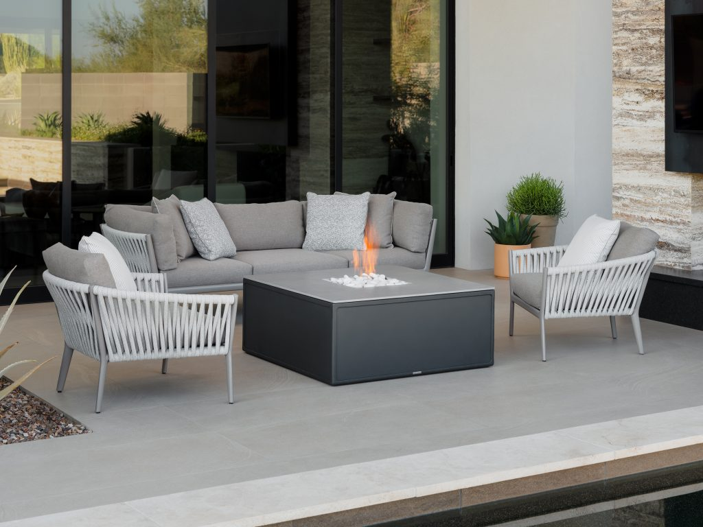 Light gray outdoor furniture from the H Collection at Brown Joradan